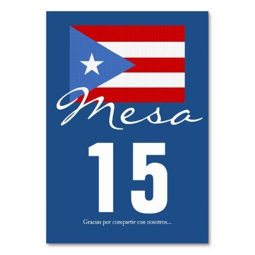 Puerto Rico Party Supplies and Decorations  Puerto Rican Flag Party Theme Table Card  Tarjetas para mesas de fiesta con tema de bandera Puertorriqueña - de Puerto Rico