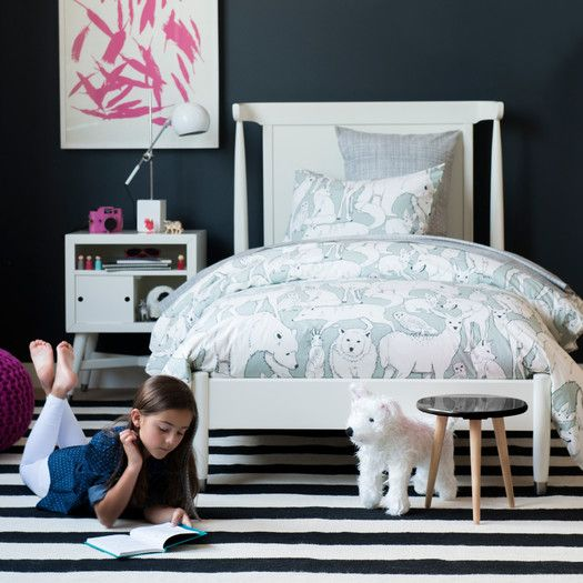 Dwellstudio Mid Century Youth White Twin Bed With Images Dwell