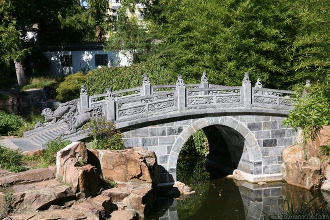 Bridge In The Chinese Garden Frankfurt Chinesischer Garten