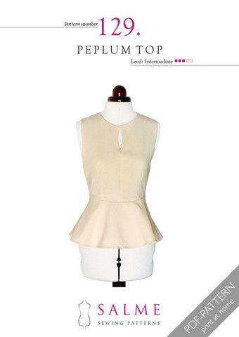 This fitted sleeveless top features a feminine peplum and a keyhole ...