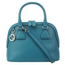f9532696ec4d53 Gucci Womens Leather 2 Way Convertible GG Charm Small Dome Purse (Teal –  Cute T's Apparel