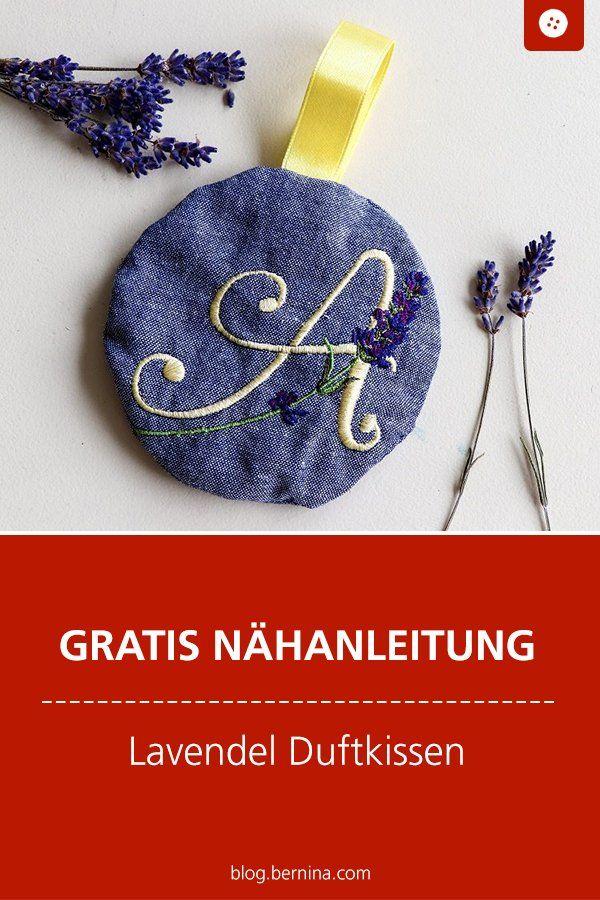Duftkissen nähen – Lavendelkissen als Geschenkidee