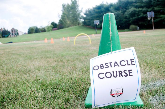 Obstacle course from Olympics Inspired Birthday Party at Karas