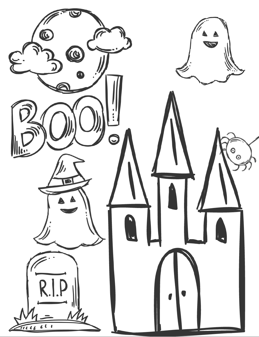 5 Free Printable Halloween Coloring Pages for Kids ...