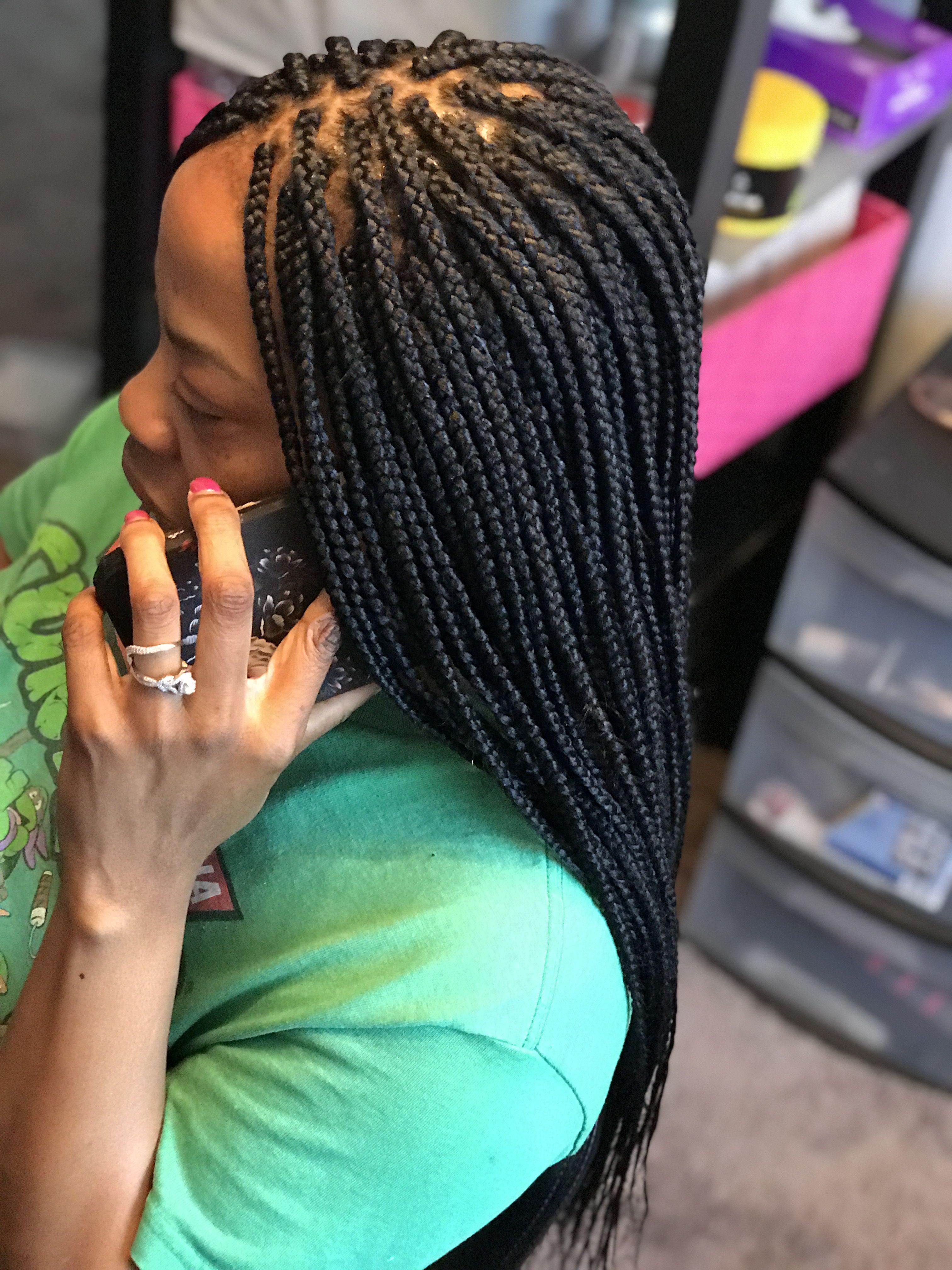 Pin by Saidah Smalls on SaiStylez | Single braids, Box ...