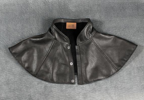 Plague Doctor Mantle Shoulder Cape In Garment Leather Capelet