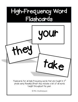 Download includes flashcards for all high-frequency (sight