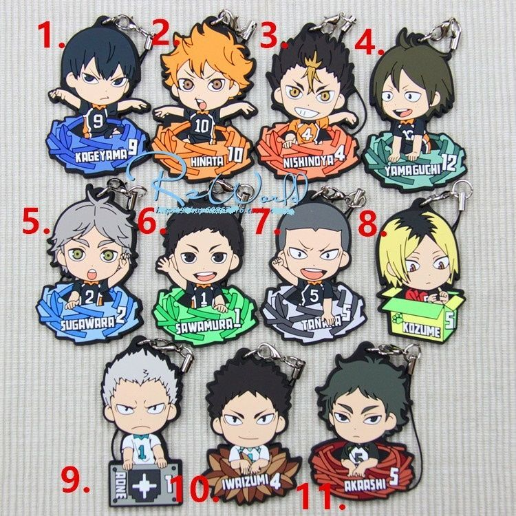 Anime haikyuu acrylic Keychain Straps cosplay