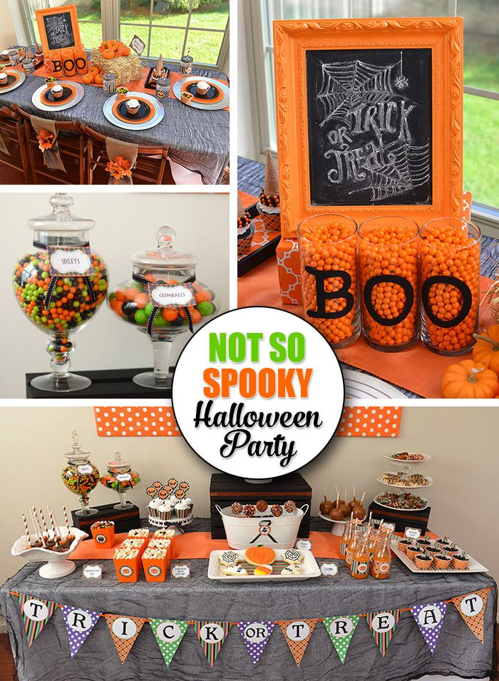 Not So Spooky Halloween Party Ideas Celebration Lane Halloween Party Table Spooky Halloween Party Halloween Party Kids