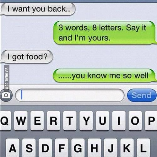 3 words, 8 letters. Say it and I'm yours - Funny
