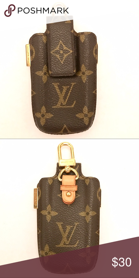 414f06cc79ec Louis Vuitton Cell Phone Holder This is a vintage cell phone holder. An  iPhone 7