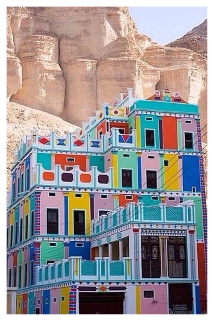 Multicolour beautiful design in Yemen.