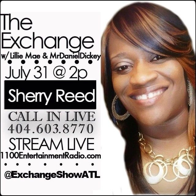 Be sure to listen to tune into The @exchangeshowatl today at 2. #sistasinspiringsistas #sherryreed #asistainspired #asalute2u