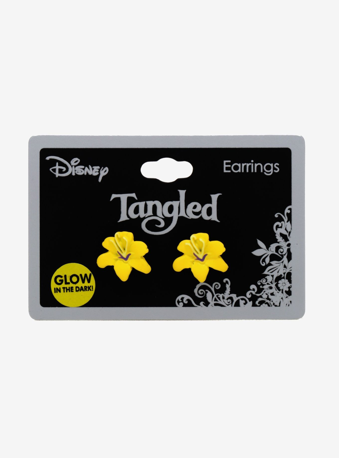 25ca9e072 Loungefly Disney Tangled Glow-In-The-Dark Flower Stud Earrings in ...
