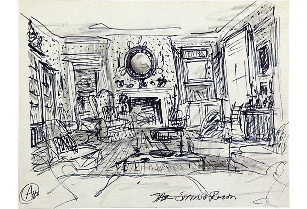 Albert Hadley sketch.