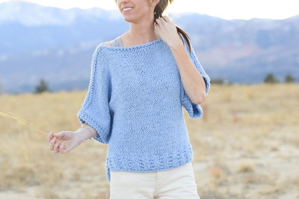 Box-Strick-T-Shirt-Pullover-Anfänger-Muster-Löwe-Marke-Jeans-Garn-4 ...