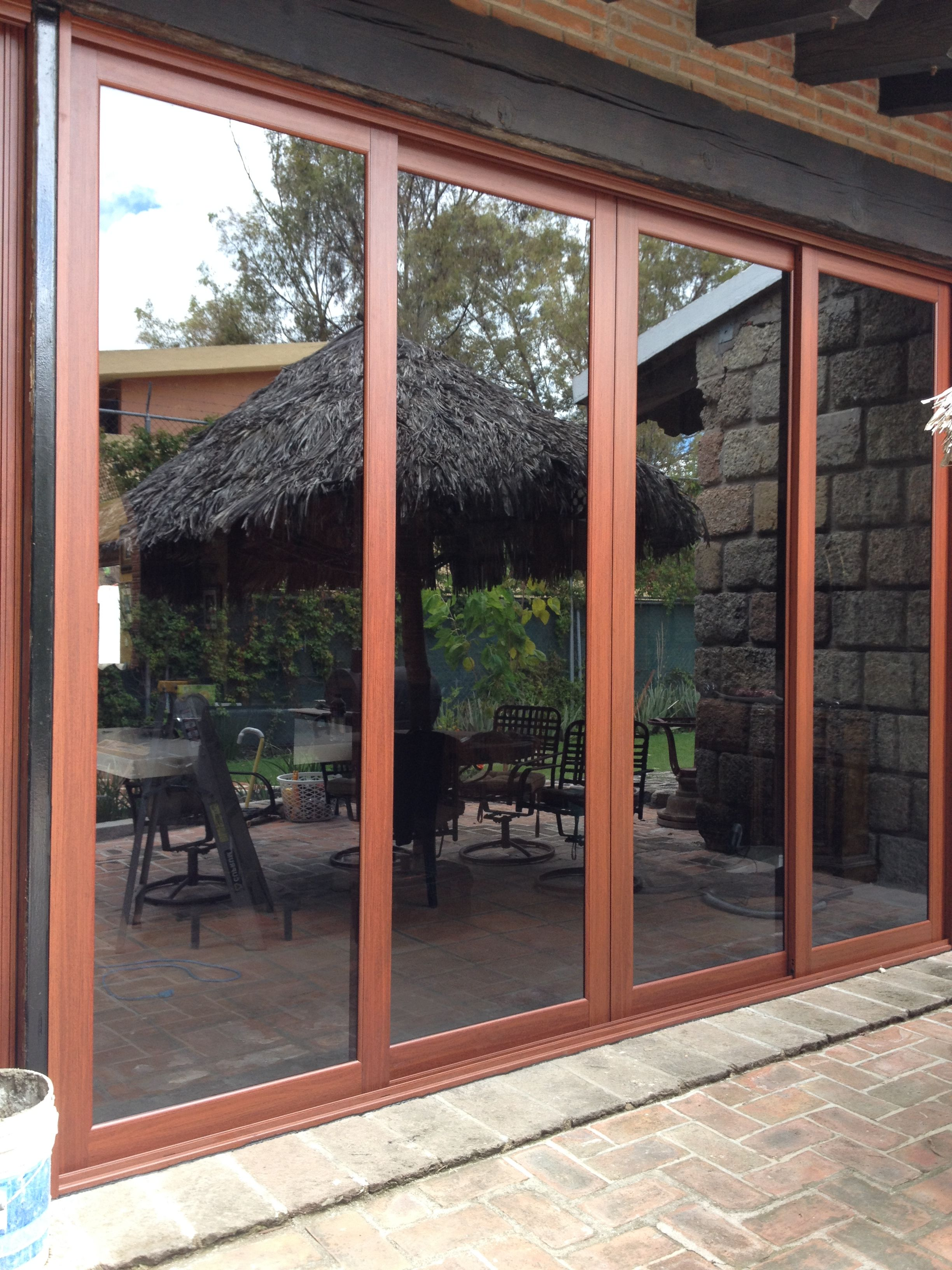 Cancel para salida al jardin o a la terraza 4 puertas for Puerta ventana de aluminio corrediza