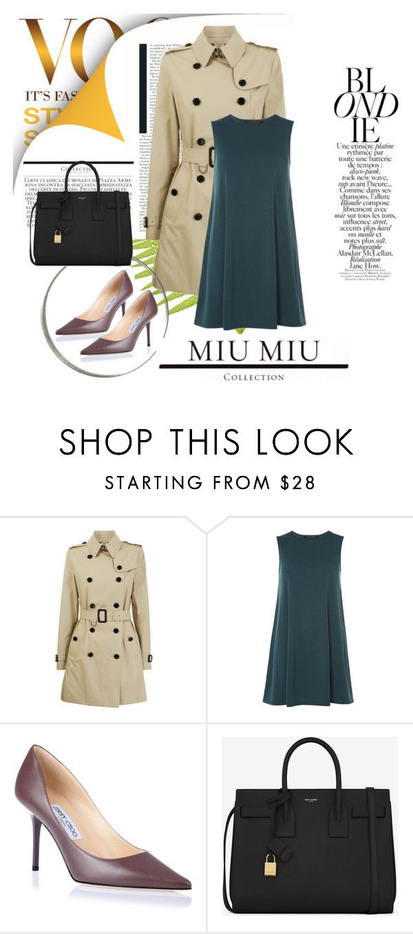 """""""Untitled #310"""" by caroowcastillo ❤ liked on Polyvore featuring Zimmermann, Burberry, Dorothy Perkins, Jimmy Choo and Yves Saint Laurent"""