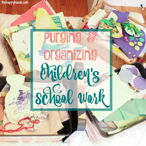 My journey in the Marie Kondo book the life changing magic of tidying up this week focusing on purging and organizing children's school work.
