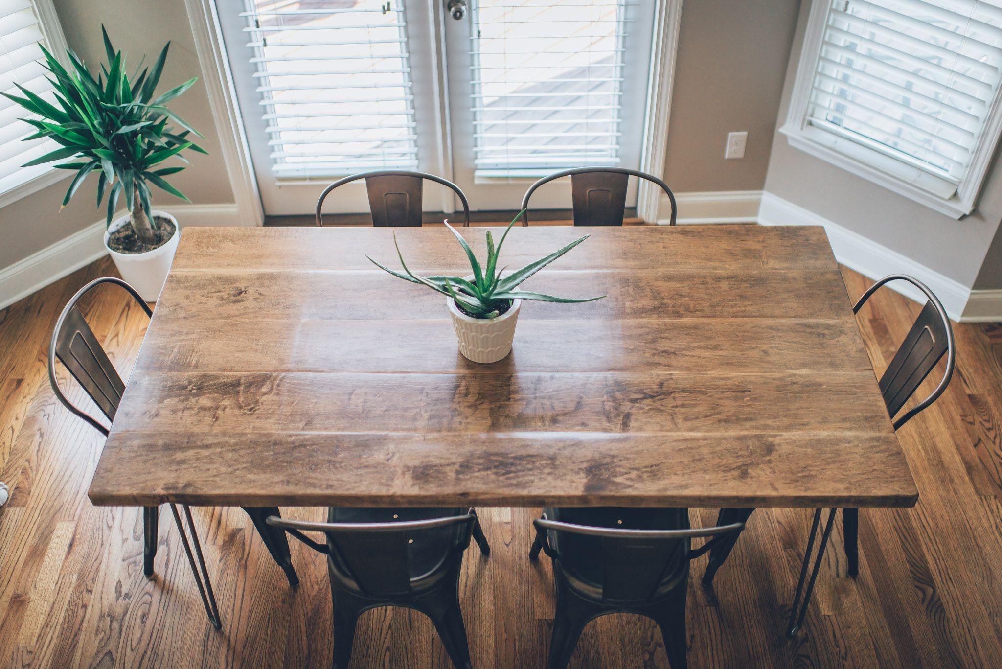 Hairpin Leg Kitchen Table DIY Dining room table, Diy