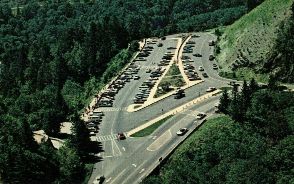 Details about postcard areial view newfound gap parking