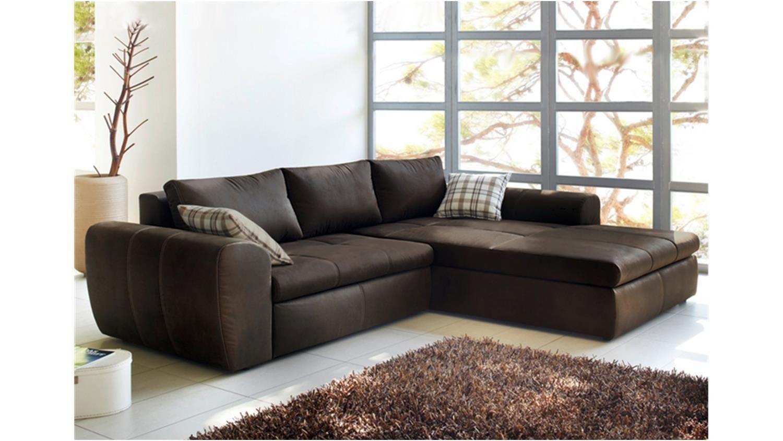Big Sofa Mit Bettfunktion Wohnlandschaft Cascada Antik Braun Mit