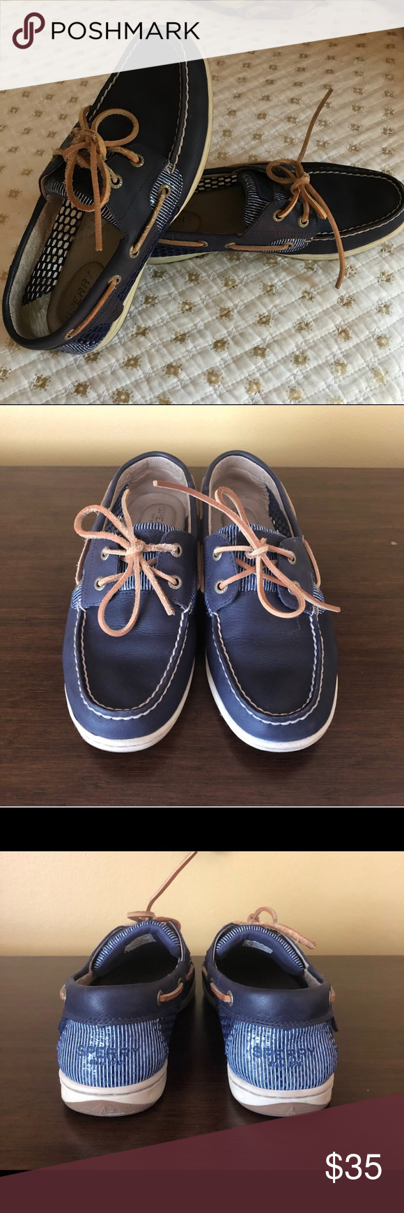 3e79d6c976 EUC Sperry Koifish Core boat shoes Size 8 Excellent used condition. Sperry  navy boat shoes with lots of life left in them. originally purchased on  Posh.