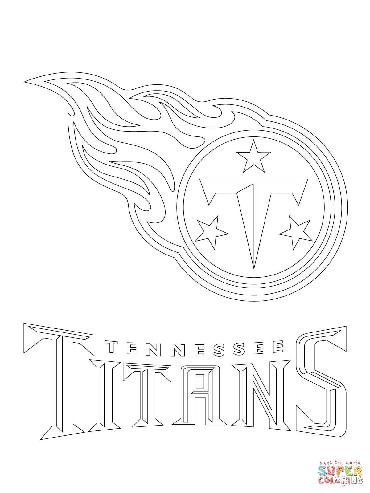 Tennessee Titans Logo Coloring Page Free Printable Coloring