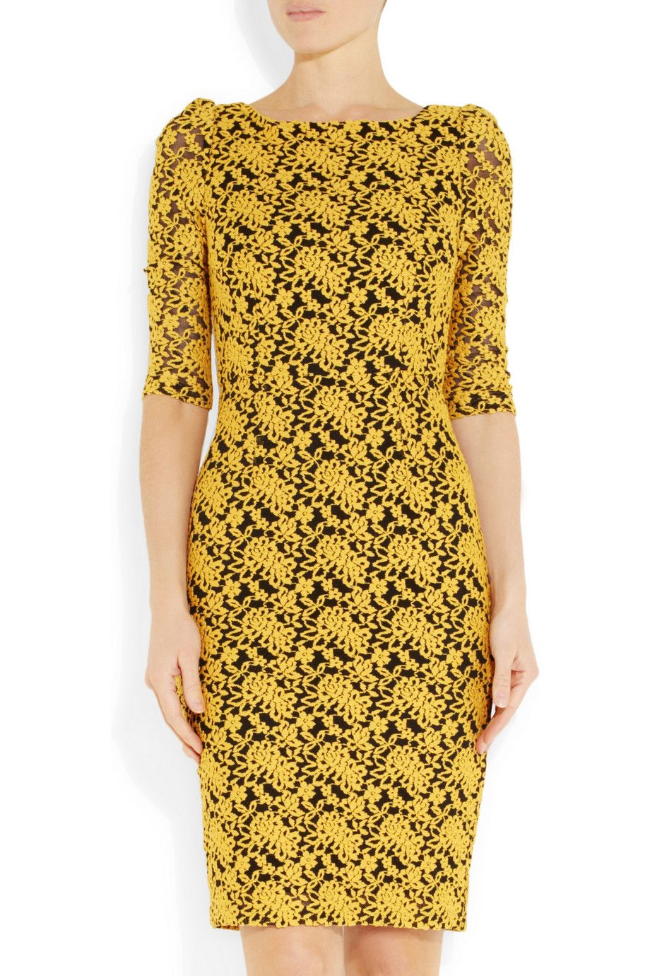 Alice + Olivia | March open back stretch lace dress | NET A