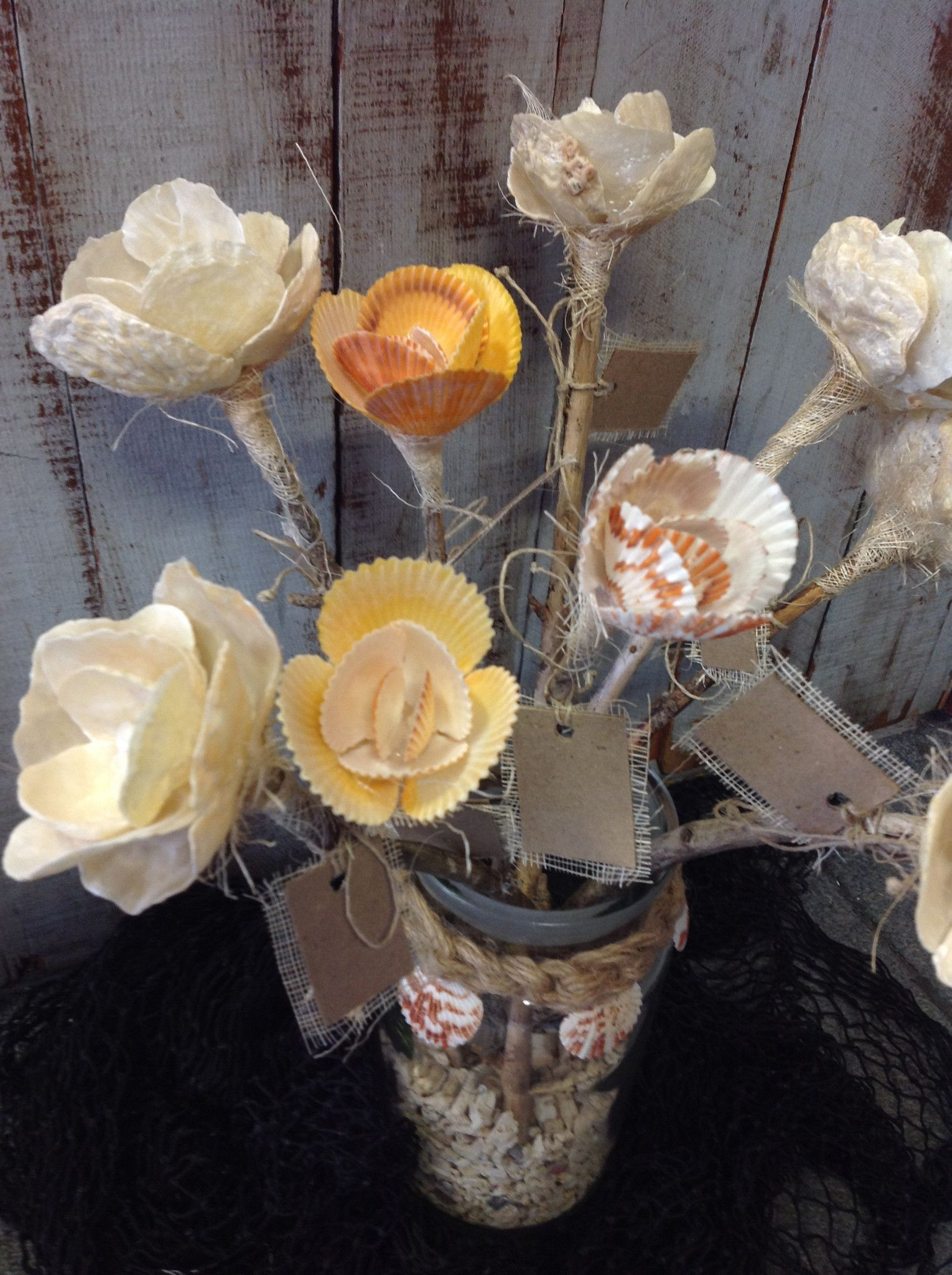 Seashell flowers sea shell crafts pinterest flower natural straight from a mermaids garden these beautiful handmade flowers are made from natural seashells all colors are natural if there is a specific flower izmirmasajfo
