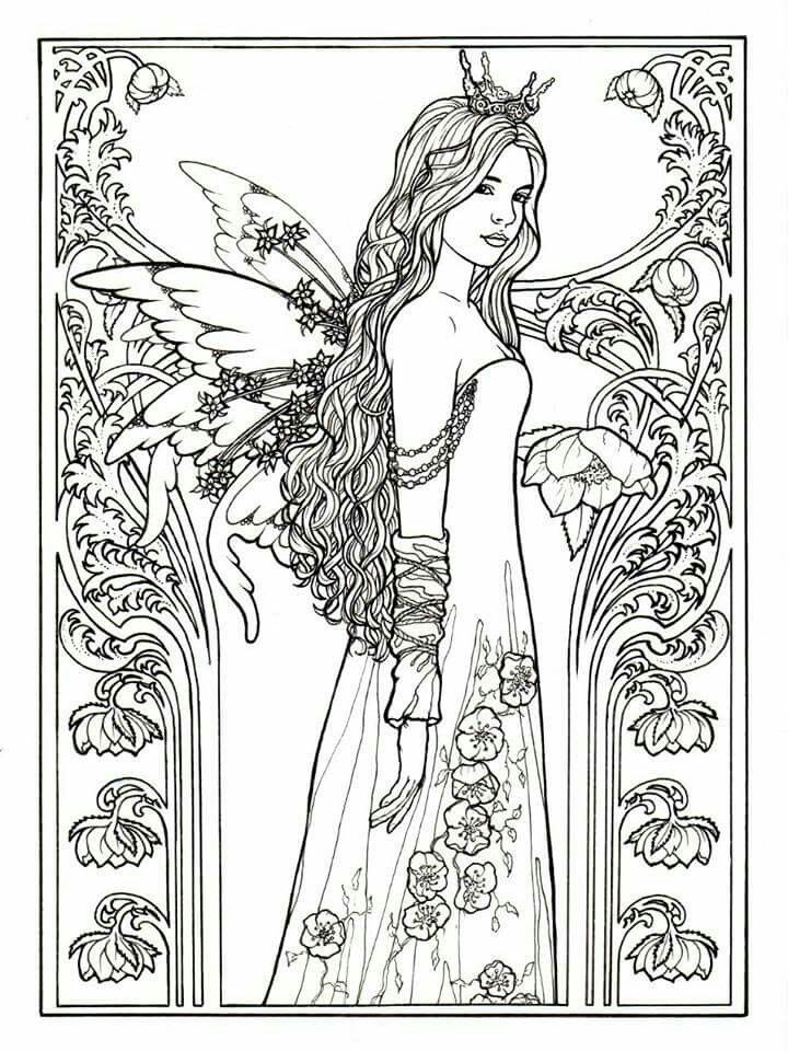 fairy princess by Carol Craig … | Fairy coloring pages ...