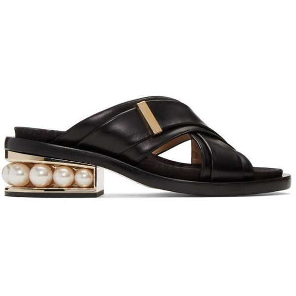 Nicholas Kirkwood Black Casati Pearl Crossover Sandals (6,225 CNY) ❤ liked  on Polyvore featuring. Pearl ShoesWomen ...