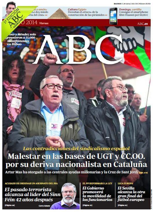 Ya puedes consultar la portada de ABC del viernes 2 de mayo