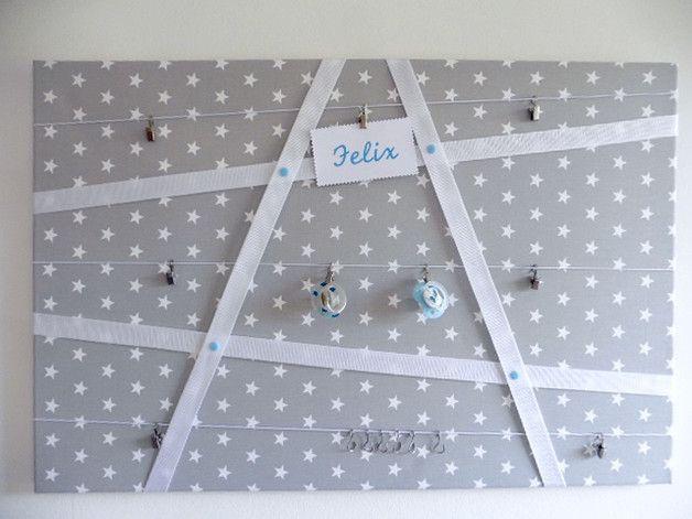 Pinnwand Babyzimmer Sterne, Geschenk Geburt\/Taufe - babyzimmer sterne photo