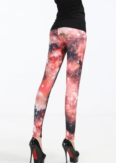 Milky Way Print Leggings
