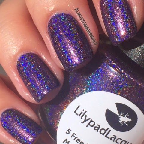 Lilypad Lacquer Violet Blaze from the June 2014 What's In-die Box? (pinned from Almost Famous Nails). Bought from Peita's Polish