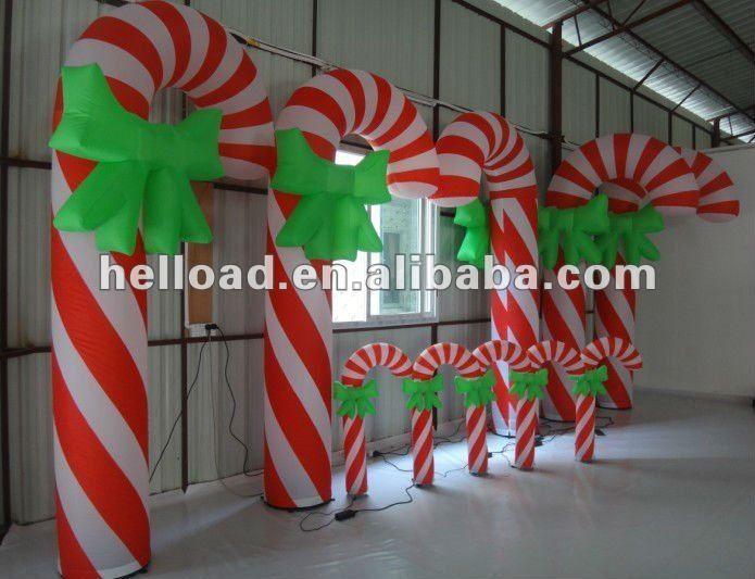 Candy Cane Christmas Decorations Inflable Navidad Del Bastón De Caramelo Decoración Interior  Buy