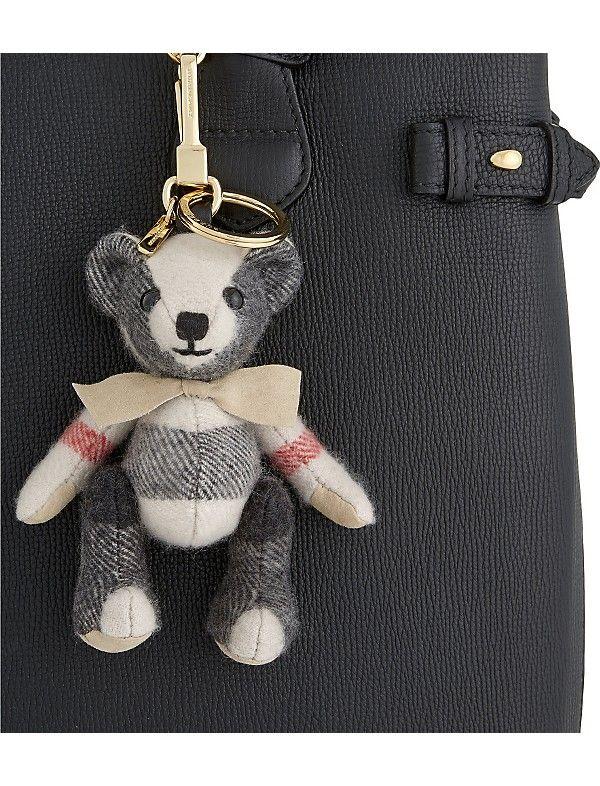 BURBERRY - Thomas Bear check cashmere keyring | Selfridges.com
