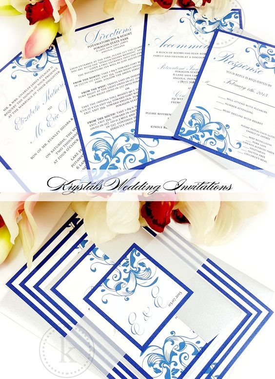 Floral Flourish Layered Wedding Invitation Suite - Krystals Wedding Invitations #weddings #weddinginvitation