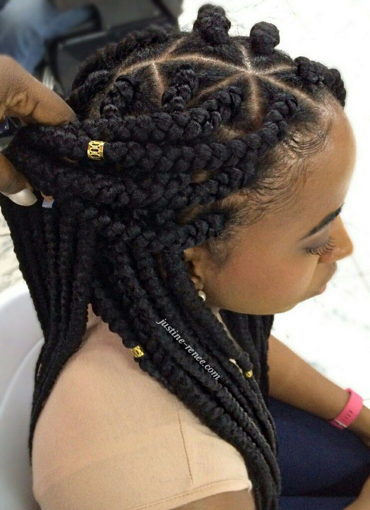 Jumbo Box Braids Protective Styles Pinterest
