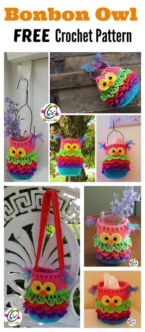 Gorgeous and Practical Crochet Bonbon Owl FREE Pattern | همساز ...