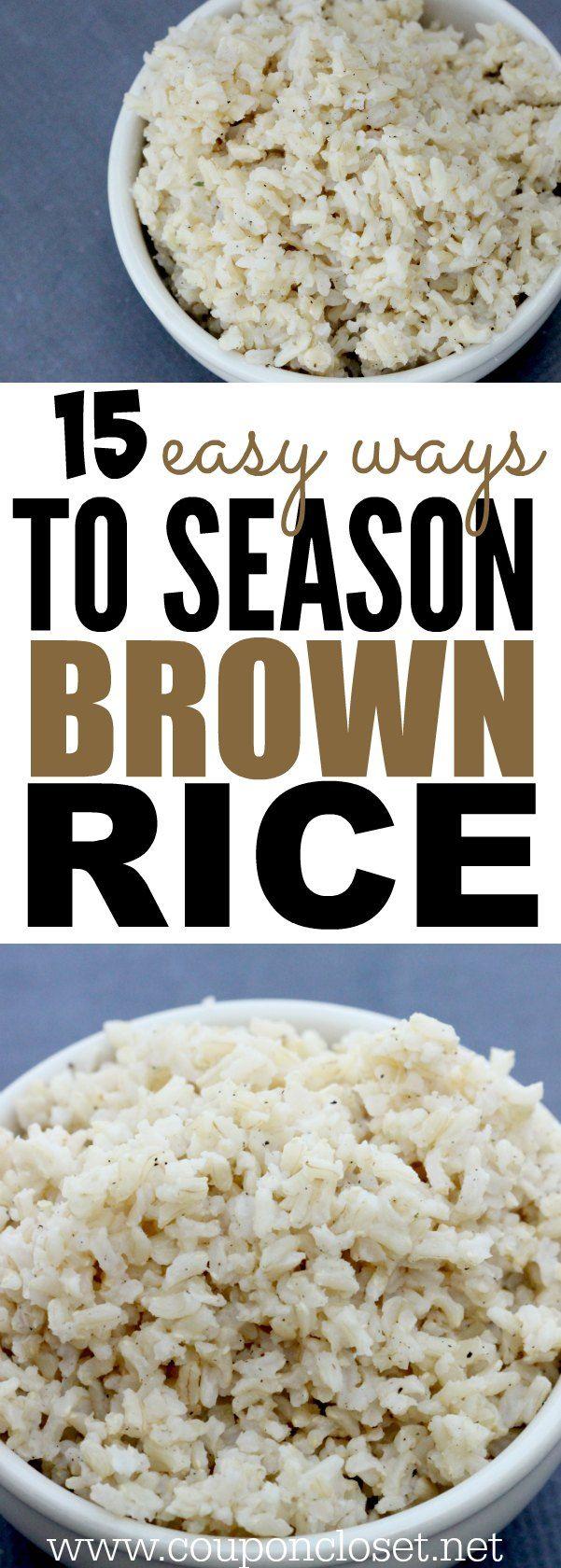 How To Season Brown Rice The Best Seasoned Brown Rice Recipes Healthy Rice Recipes Seasoned Brown Rice Recipe Food