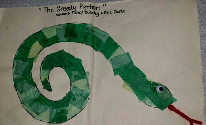 Snake Art From The Book The Greedy Python Written By Eric