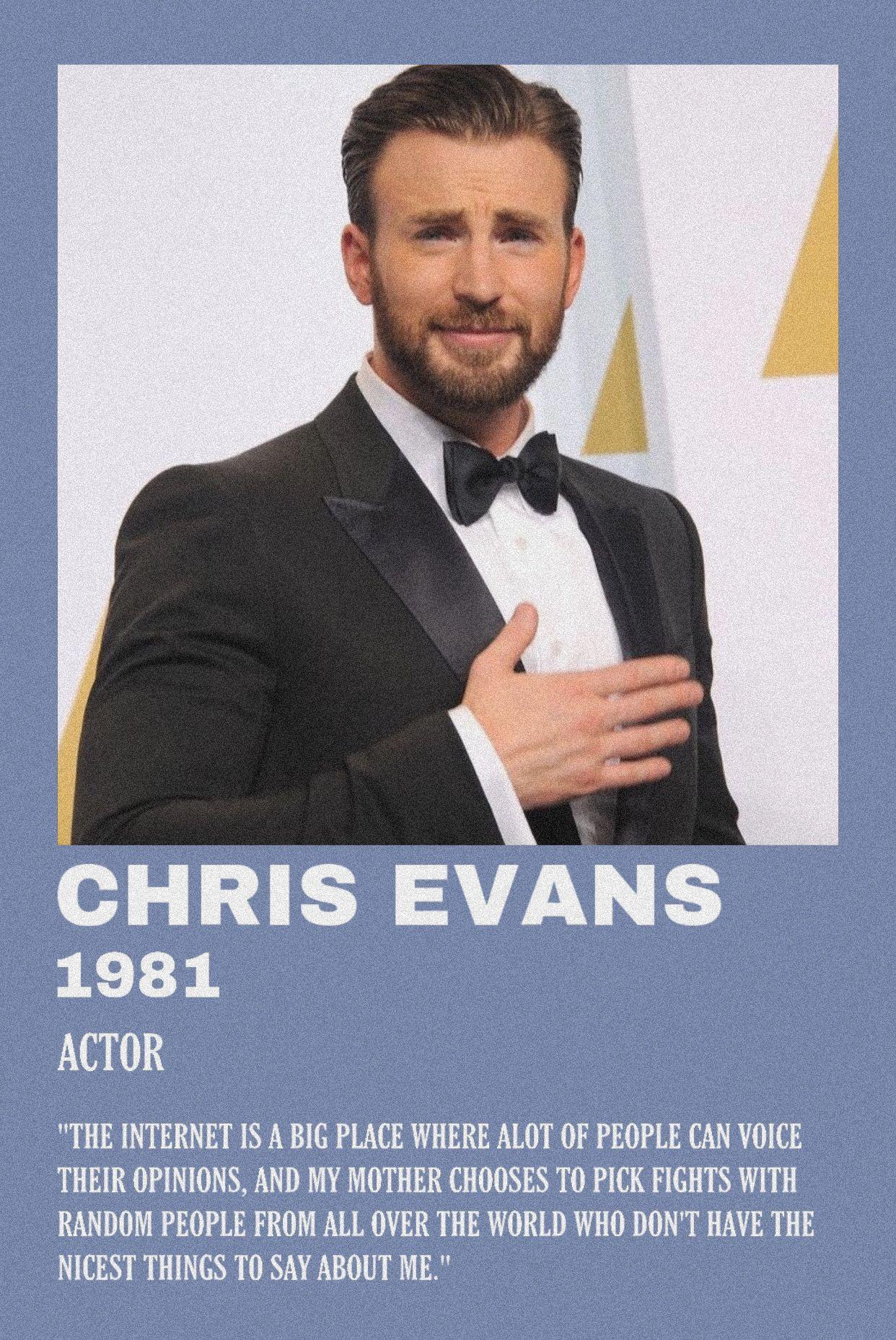 Chris Evans By Scarlettbullivant Chris Evans Alternative Movie Posters Actors