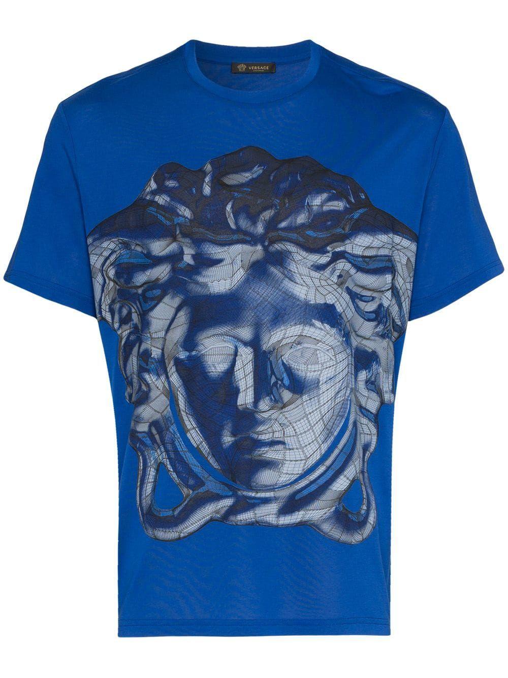 5770fdacc VERSACE VERSACE MEDUSA GRAPHIC PRINT T-SHIRT - BLUE. #versace #cloth ...
