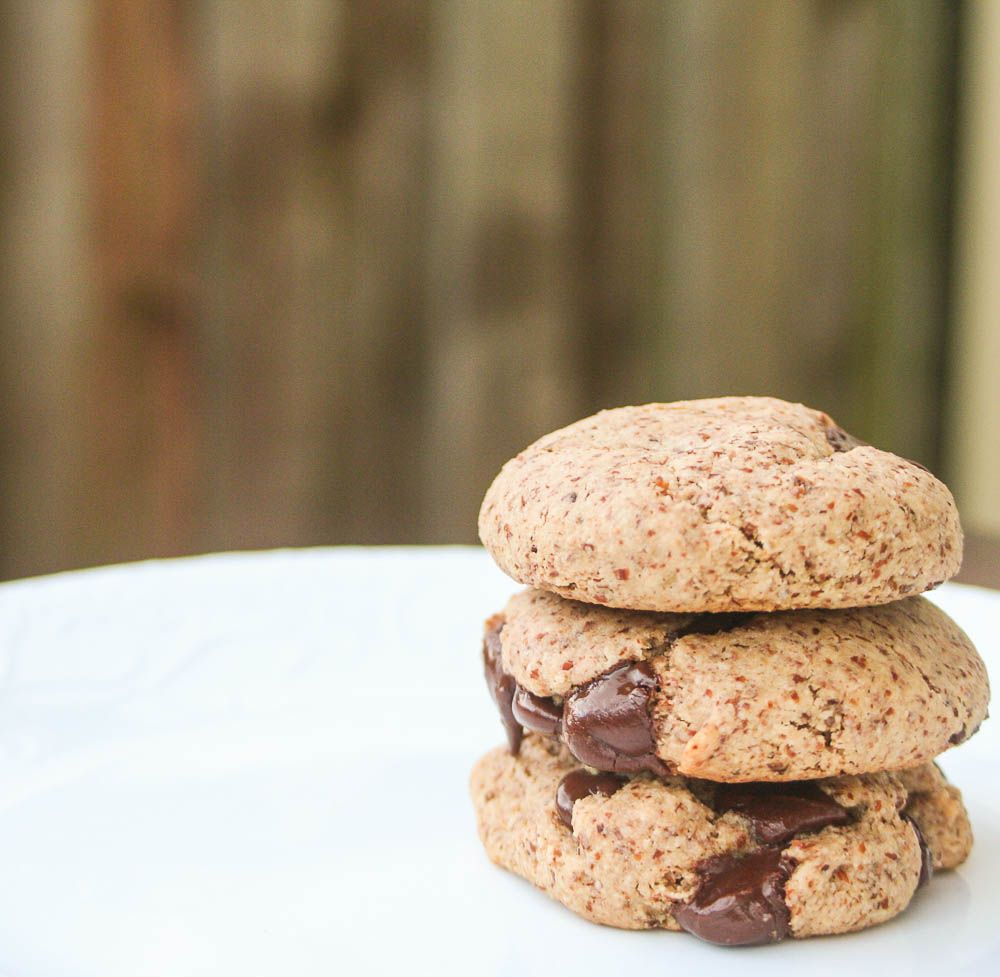 Almond Meal Chocolate Chip Cookies. Vegan. Gluten Free.