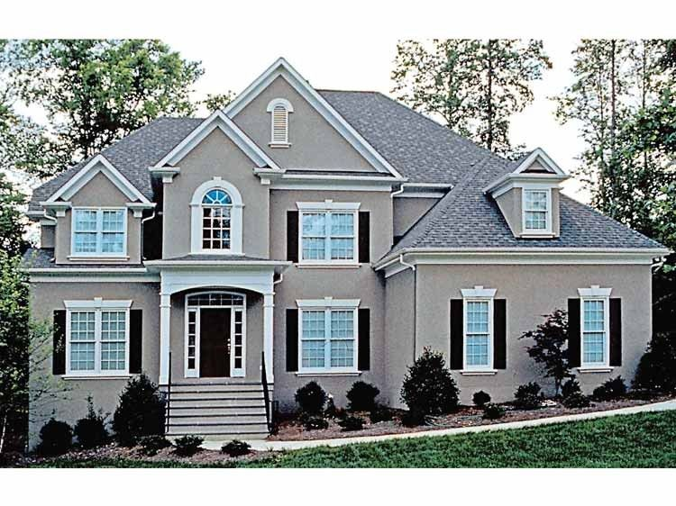 New american house plan with 3678 square feet and 4 for Traditional american home