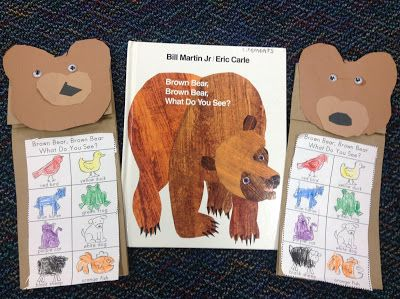 Kindergarten Brown Bear Brown Bear What Do You See And Letter