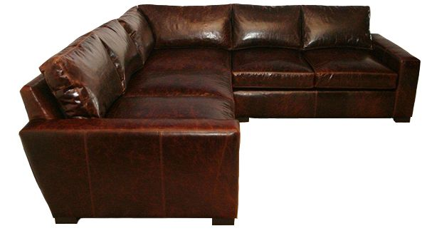 Madison Leather Sectional At Casco Bay Furniture (no Sales Tax) Brompton  Cocoa Leather $5988