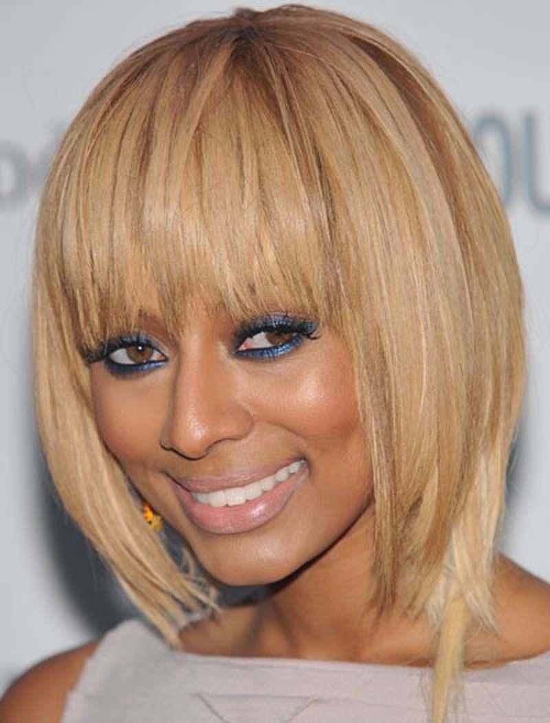 Keri Hilson Blonde Bob Hairstyle In Shoulder Cut Celebrity Hair